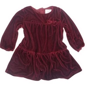 Carter's Special Occasion Velvet Burgundy Dress